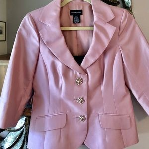 Bloomingdales Rose silk Evening Jacket